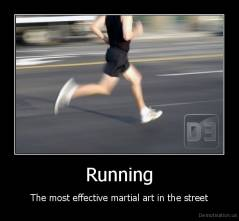 running martial art