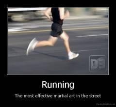 running martial art