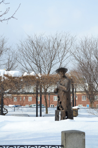 James M Whistler Statue in Lowell MA